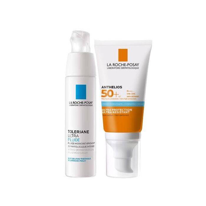 TOLERIANE ULTRA FLUIDE + Anthleios увлажняющий крем SPF50
