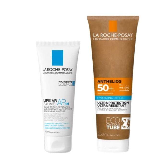 Lipikar baume AP+M + ANTHELIOS Увлажняющее молочко для лица и тела SPF 50